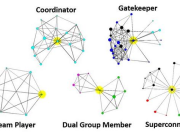 The social graph structures of coordinators, gatekeepers, team players, superconnectors. Via @gramleth y @dhinchcliffe