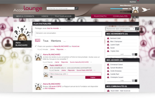 AccorLounge: la red social interna de Accor