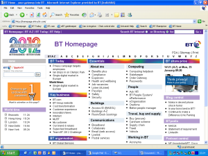 Intranet de BT (2010)
